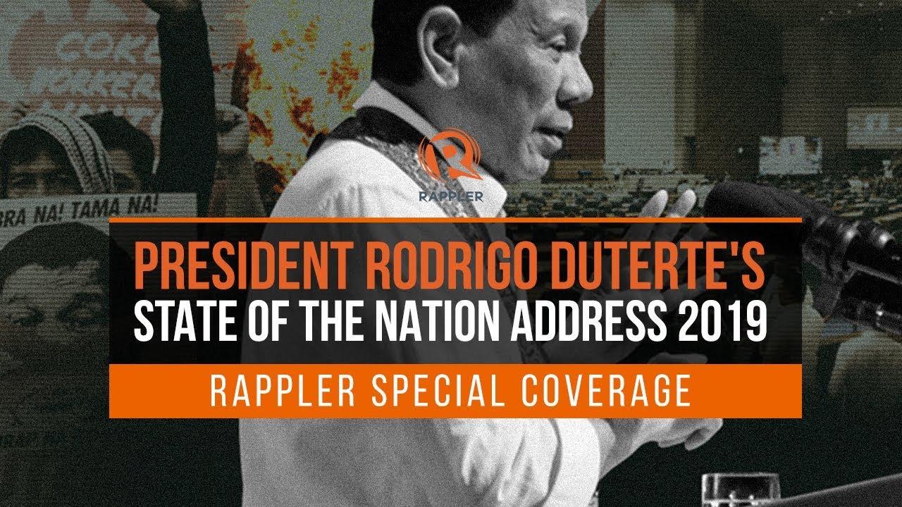 HIGHLIGHTS: President Rodrigo Duterte's 2019 State of the