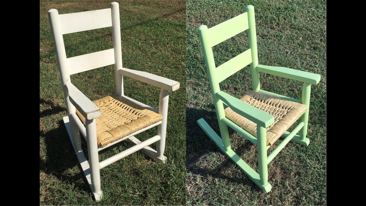 Rocking chair refurbish project - rocking chair rehab - YouTube