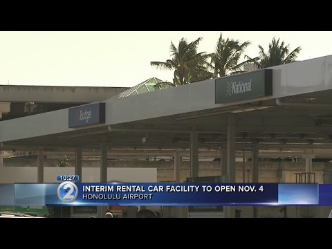 Temporary car rental facility to open at Honolulu International Airport