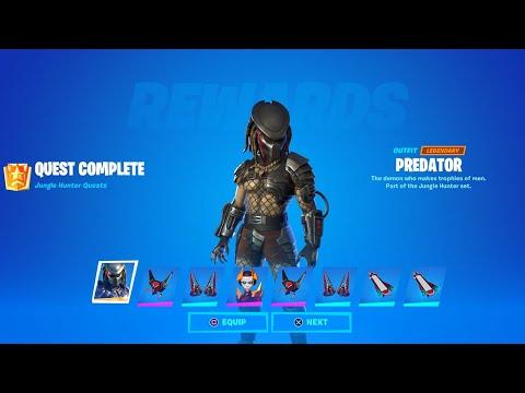 Fortnite Complete 'Jungle Hunter Quests' Guide - How to Unlock All Predator Rewards