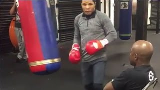 FLOYD MAYWEATHER TRAINS GERVONTA DAVIS; GIVES HIM ADVICE FOR LIAM WALSH CLASH