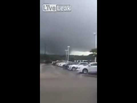 LiveLeak - Tornado in Bryan Texas causes a Explosion!! 5/26/16