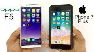Oppo F5 vs iPhone 7 Plus Speed Test!