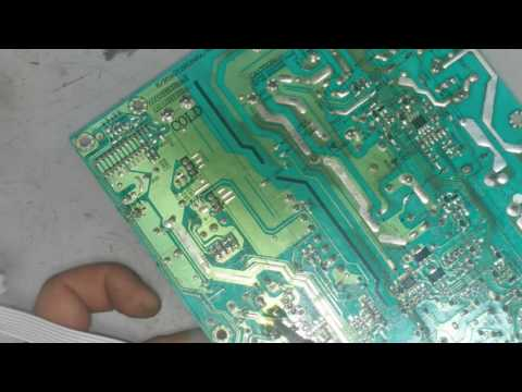 видео: ремонт жк телевизора не включается.