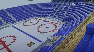 Minecraft Lets Build a Basketball Arena Part 2