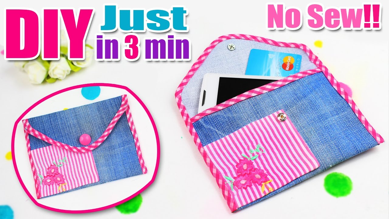 DIY PURSE CASE FOR GIRL NO SEW EASY TUTORIAL IN 3 MIN ...