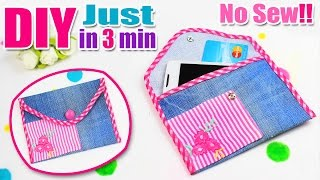 DIY PURSE CASE FOR GIRL NO SEW EASY TUTORIAL IN 3 MIN