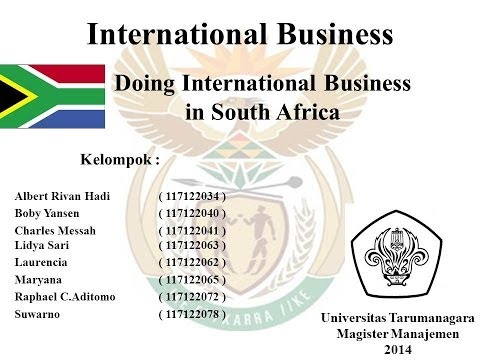 Doing International Business in South Africa - MM UNTAR