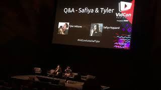 Safiya Nygaard & Tyler Williams Q&A at Vidcon Australia 2018!
