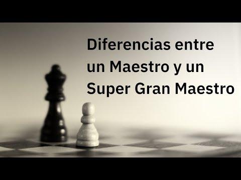 Diferencias entre un Maestro y un Super Gran Maestro de Ajedrez. Carlsen- Ding