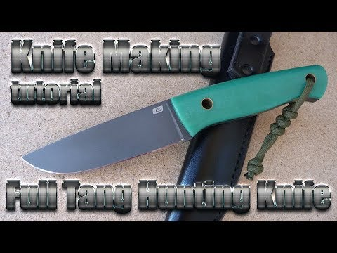 Knife Making - Full Tang Hunting Knife From PGK + Micarta. How Is It Done.