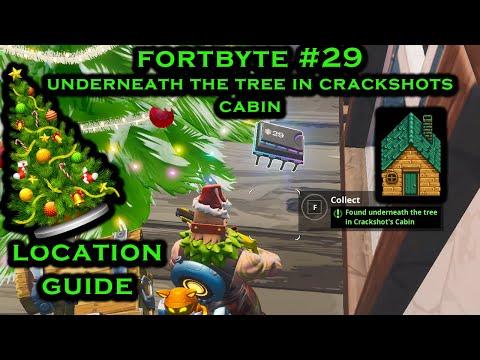 *NEW* Fortnite Fortbyte #29 - Location Guide To Crackshots Cabin!!