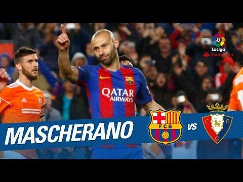 El primer gol de Javier Mascherano con el FC Barcelona