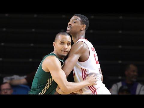Jordan Mickey posts 18 points & 14 rebounds vs. the Bighorns, 1/10/2016