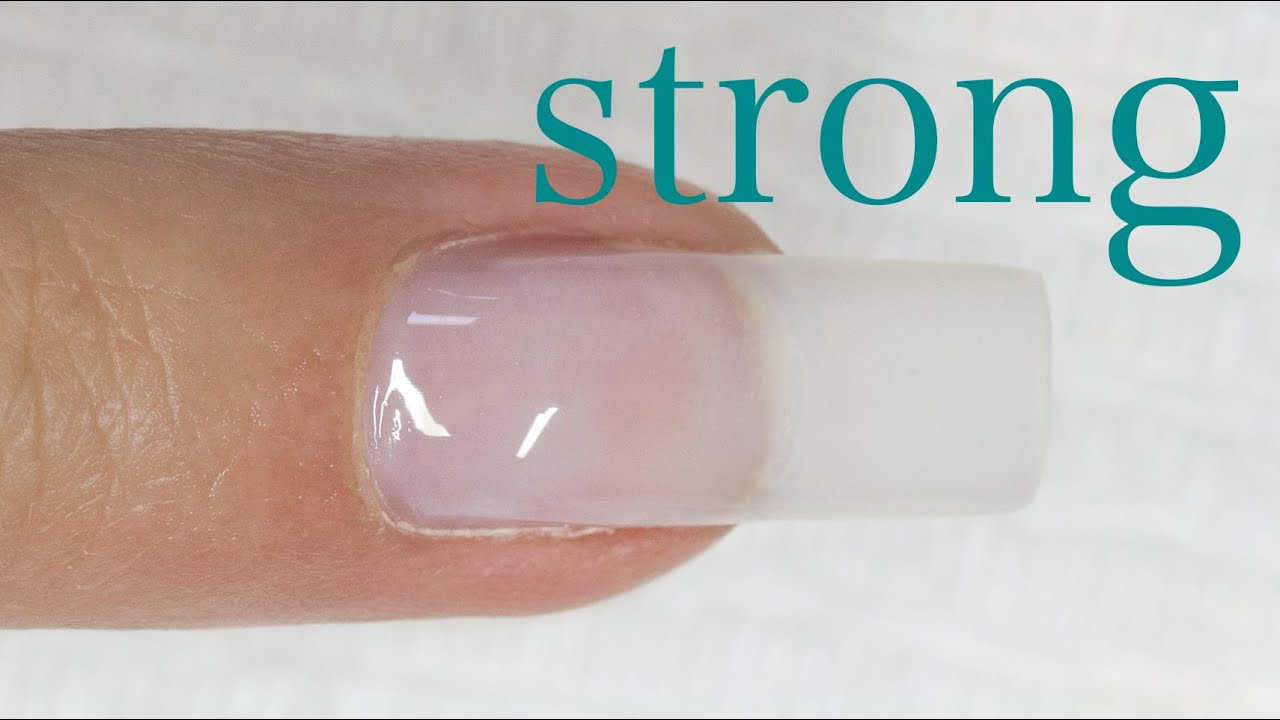 GEL UV Strong Clear - How to apply - YouTube