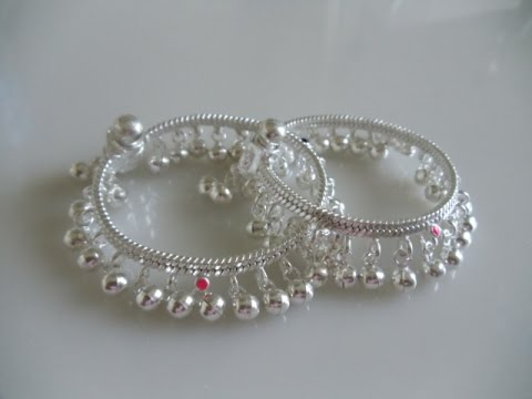 latest baby girl silver anklets designs youtube