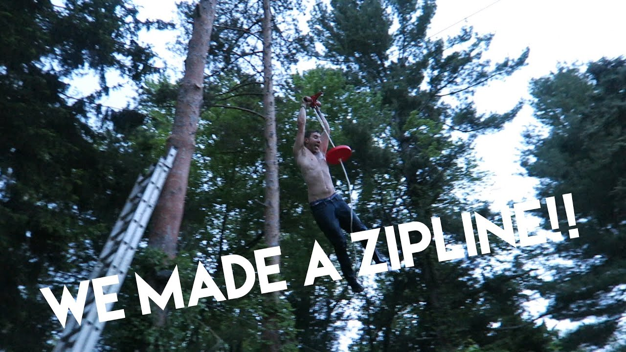 how to buld a zipline in your backyard youtube