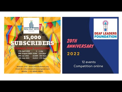 India deaf news 15,000 subscribed and DLF 20th Anniversary competition plan