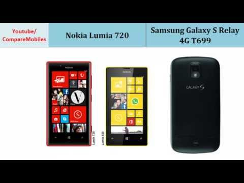 Nokia Lumia 720 VS Samsung Galaxy S Relay 4G T699, compare specifications