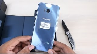 Samsung Galaxy S8+ India Unboxing Coral Blue