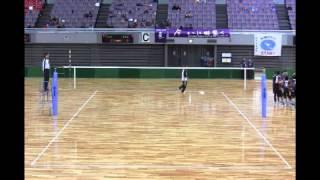 パイオニア対東京女子体育大学 第81回女子9人制バレーボール総合