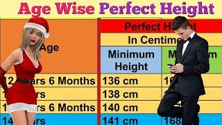 उम्र के हिसाब से Perfect Height । Age wise perfect height.