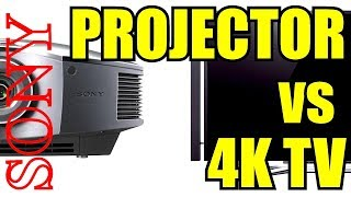 SONY 4K TV vs SONY 1080p Projector / Unboxing / Review