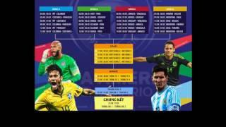 Copa America 2016 lịch thi đấu chính thức. Tỷ lệ cá cược.