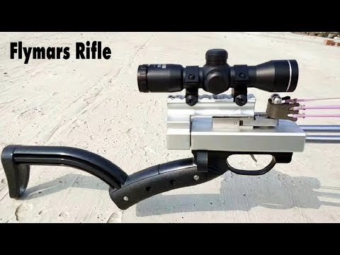 Flymars Hunting Slingshot Rifle - Double Safety Device - Newest Slingshot Gun Terminator