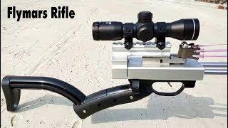 Flymars Hunting Slingshot Rifle - Double Safety Device - Newest Slingshot Gun Terminator