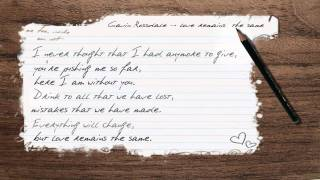 Gavin Rossdale - Love remains the same (HD) [Lyrics]
