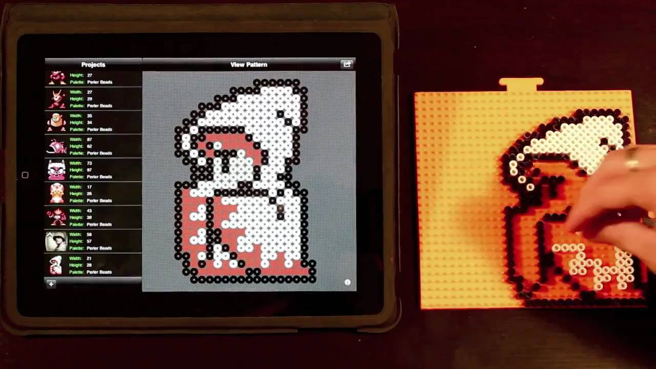 White Mage Final Fantasy Bead Sprite Using Bead It Hd