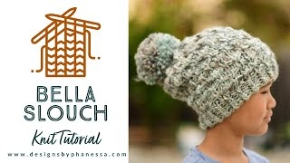 Knit Bella Slouch Left-Hand Tutorial