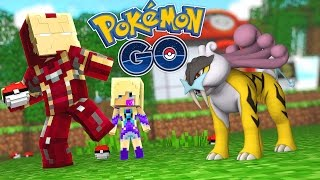 Minecraft Adventure - POKEMON GO, IRONMAN CATHCES A PIKACHU!! ▻ Ple...