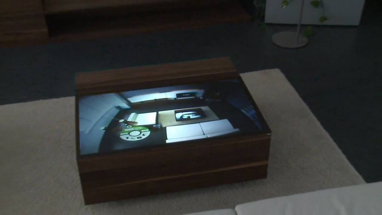 CRISTAL On Multitouch Coffee Table YouTube - Multitouch coffee table