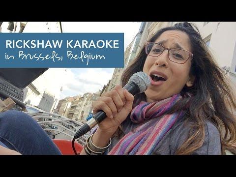 Rickshaw Karaoke in Brussels, Belgium