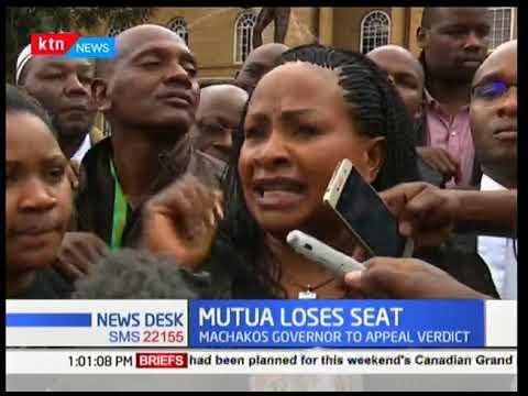 Mutua loses seat,the governor to appeal verdict News Desk full bulletin