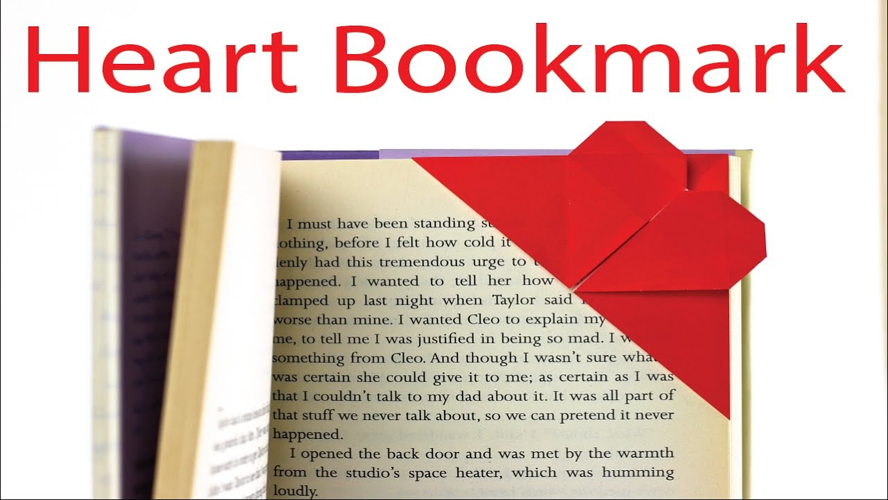 Origami Heart Corner Bookmark