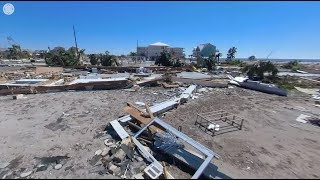 360°: Mexico Beach, FL ground damage survey after Hurricane Michael