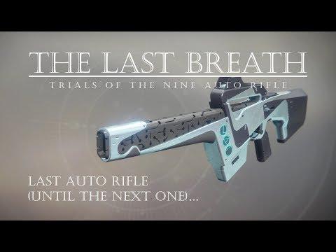 Waiting for Duty Bound - The Last Breath - Trials Auto Rifle - Destiny 2