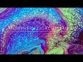 ( 38 ) Fluid Painting - Northern Light attempt ending in cell invasion with open cup teqnique