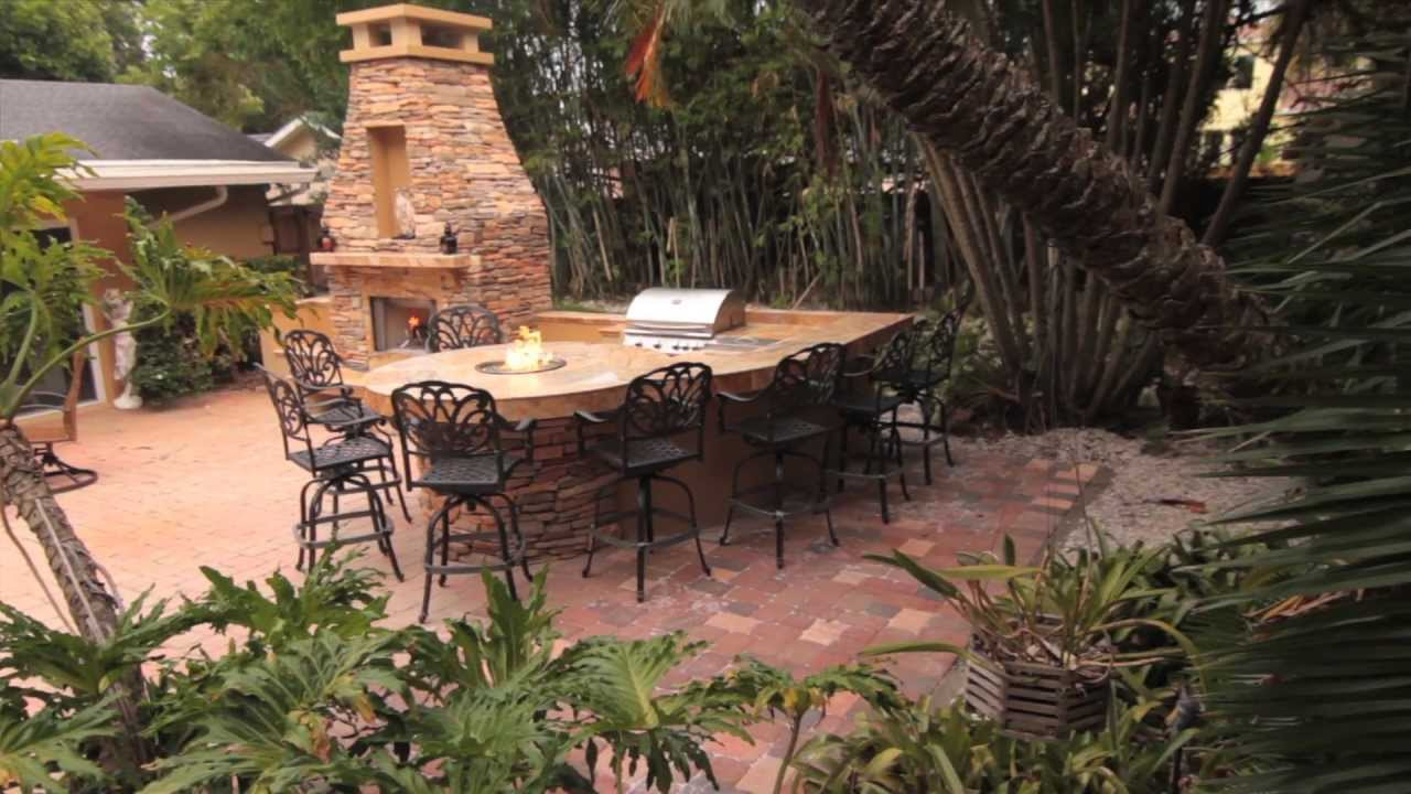 how to build outdoor fireplace with fire pit and large stack stone