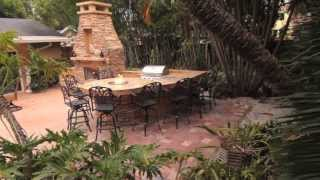 How To Build Outdoor Fireplace With Fire Pit And Large Stack Stone. Diy