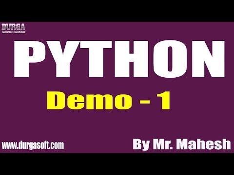 PYTHON tutorial || Demo - 1 || by Mr. Mahesh on 05-12-2019 thumbnail