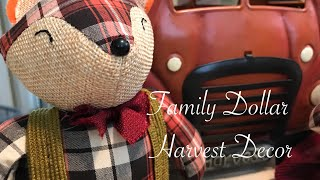 Family Dollar Fall Decor || Small Fall Shopping Haul 2018