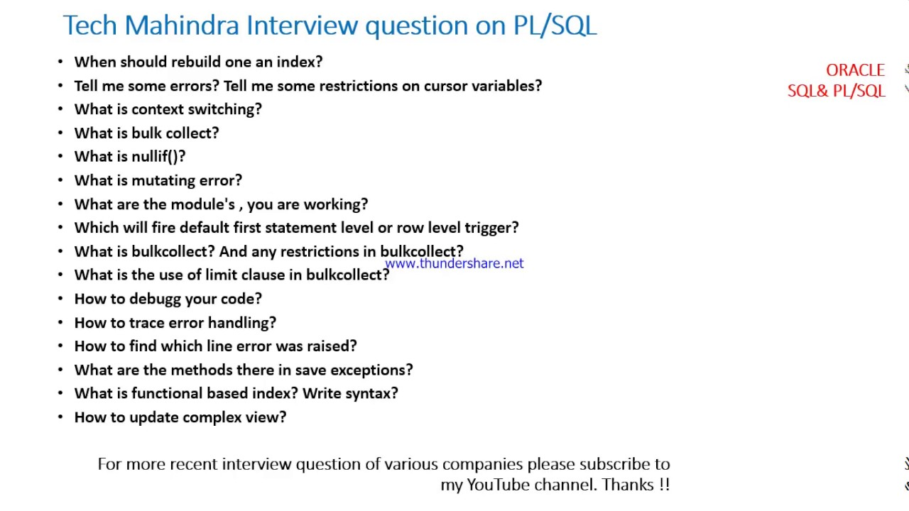 Oracle Sql Interview Questions And Answers For Experienced Pdf