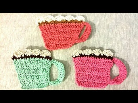 Easy Crocheted Mug Coasters Youtube