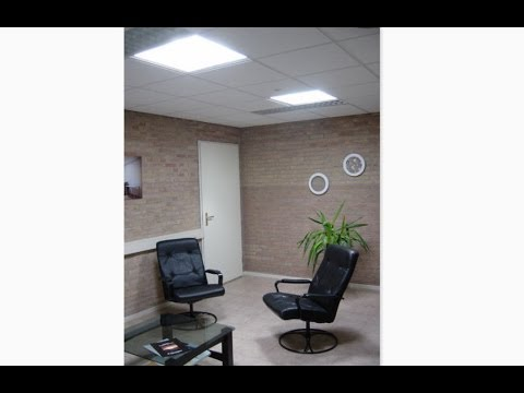Светодиодный офисный светильник- тестирование.
