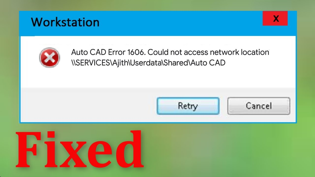 """Download How To Fix """" Error Code 1606. Could Not Access Network Location """" - Windows 10 / 8 / 7"""