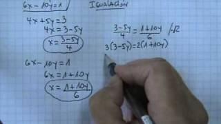 Sistemas de ecuaciones 2x2 método igualación 03